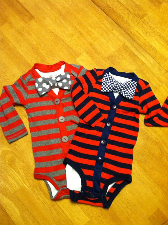 Boys Cardigan Onesie and Bowtie Set, Cardigan and Bowtie, Baby Cardigan, Twins First Birthday, Twin Cardigan Onesie Set