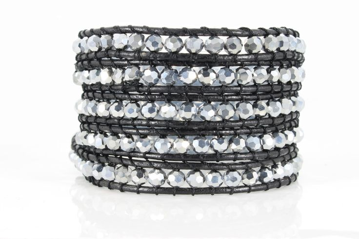 SILVER CRYSTALS Wrap Bracelet by #Beautiz. Beautiful 5 layer handcrafted leather wrap bracelet. Silver crystals. Stainless Steel and Nickel-Free Clasp. Shop here: http://www.beautiz.net/english/fashion-jewelry/bracelets/wrap-bracelets/silver-cristals.html