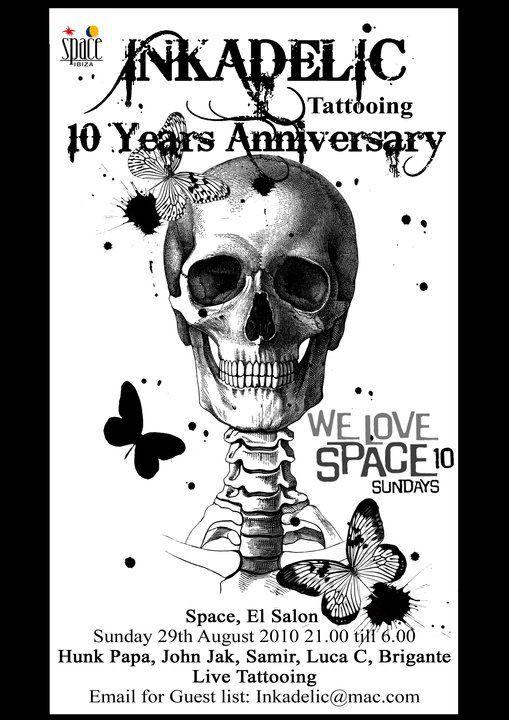 10 Years of Inkadelic studio, Ibiza, ES