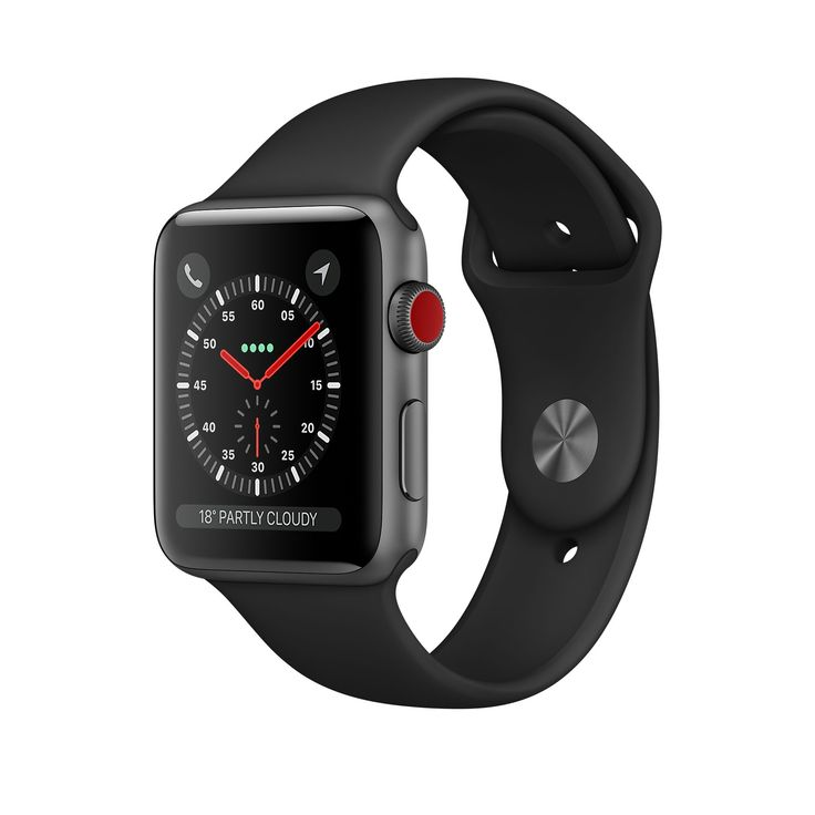 Shop Apple Watch Space Grey Aluminium Case with black Sport Band in 38-mm and 42-mm. Available with built-in cellular. Buy now with free shipping.