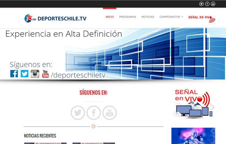 Sitio web www.deporteschile.tv para nuestro cliente Deportes Chile TV. Versión 2015.