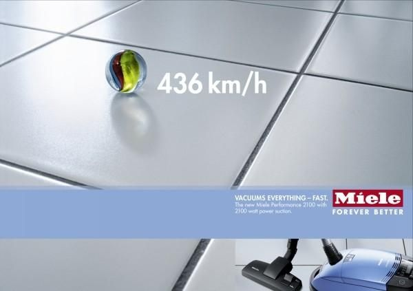 The Print Ad titled MARBLE was done by Springer & Jacoby Germany advertising agency for product: Miele Performance 2100 Vacuum Cleaner (brand: Miele & Co.) in Germany. It was released in the Dec 2004.
