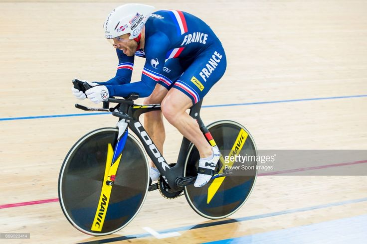 #TWC2017 Francois Pervis of France competes in the Men's Kilometre TT Final during 2017 UCI World Cycling on April 16, 2017 in Hong Kong, Hong Kong.