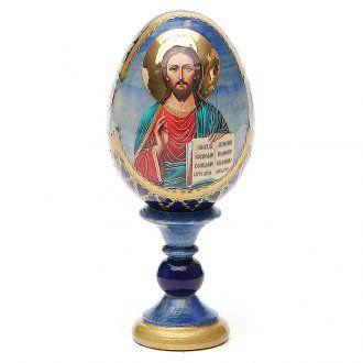 Russian Egg Pantocrator découpage Fabergè style 13cm   online sales on…
