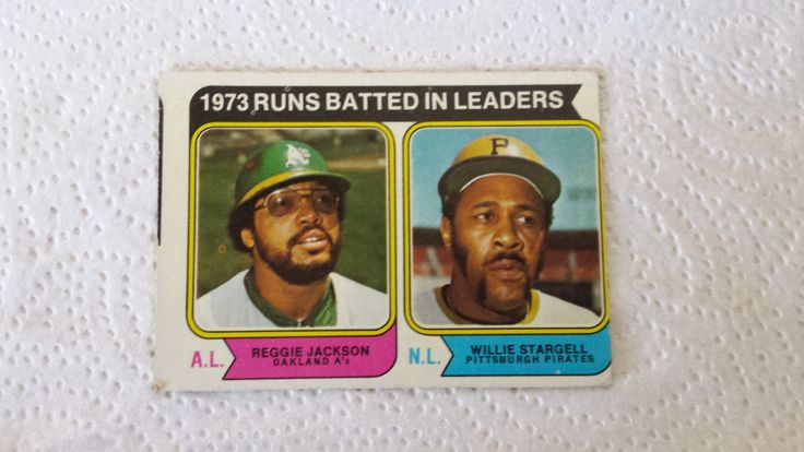 1974 Topps Willie Stargell / Reggie Jackson single baseball card