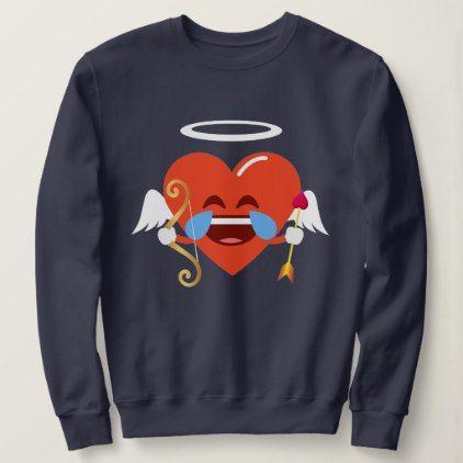 #Cupid Heart Emoji Tears of Joy Valentines Sweatshirt - #emoji #emojis #smiley #smilies