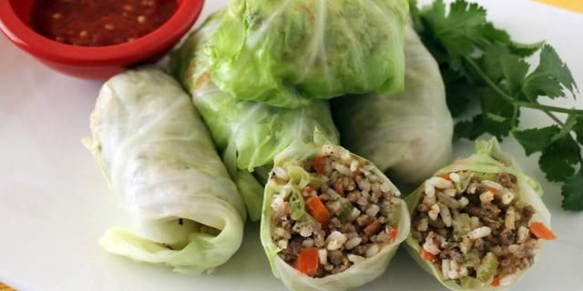 Niños Envueltos: Cabbage Rolls with Rice and Ground Meat Filling