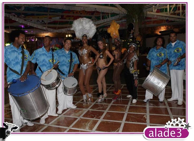 Fiesta temática brasileña. Grupo de Samba para Carnaval  www.alade3.es