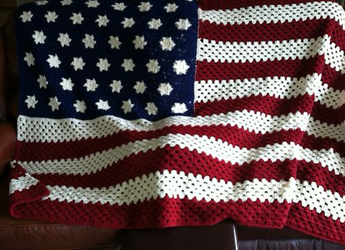 Ravelry: Nanadel's American Flag Afghan