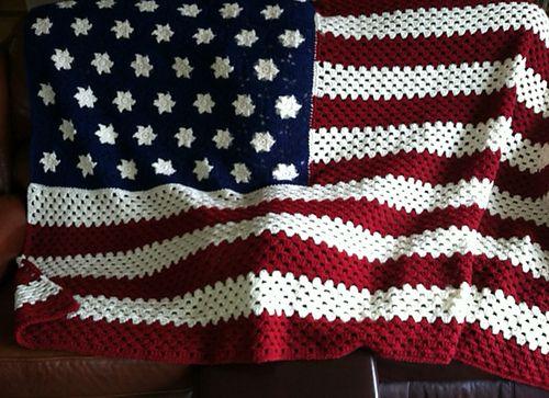 Knitting Pattern For American Flag Afghan : Ravelry: Nanadels American Flag Afghan Sewing Projects ...