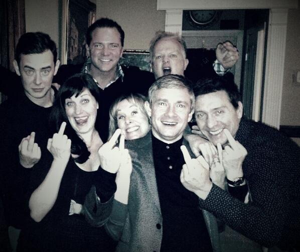 Fargo tv show cast sending a message to Sherlock :)?