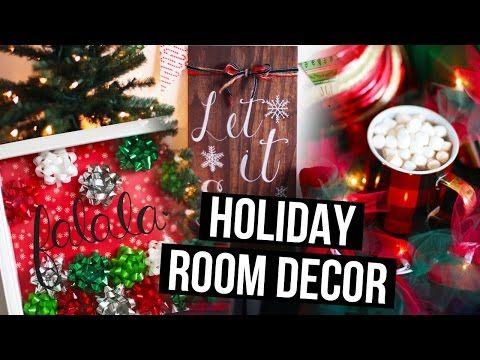 Diy holiday room decor ideas christmas makeover for Room decor laurdiy