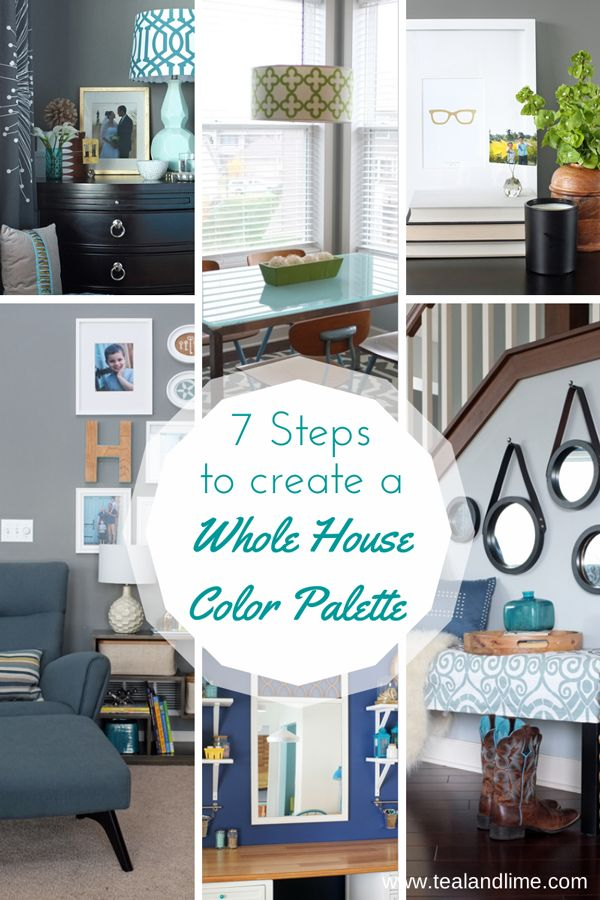7 Steps to Create Your Whole House Color Palette Worksheet. Pin now to read later.