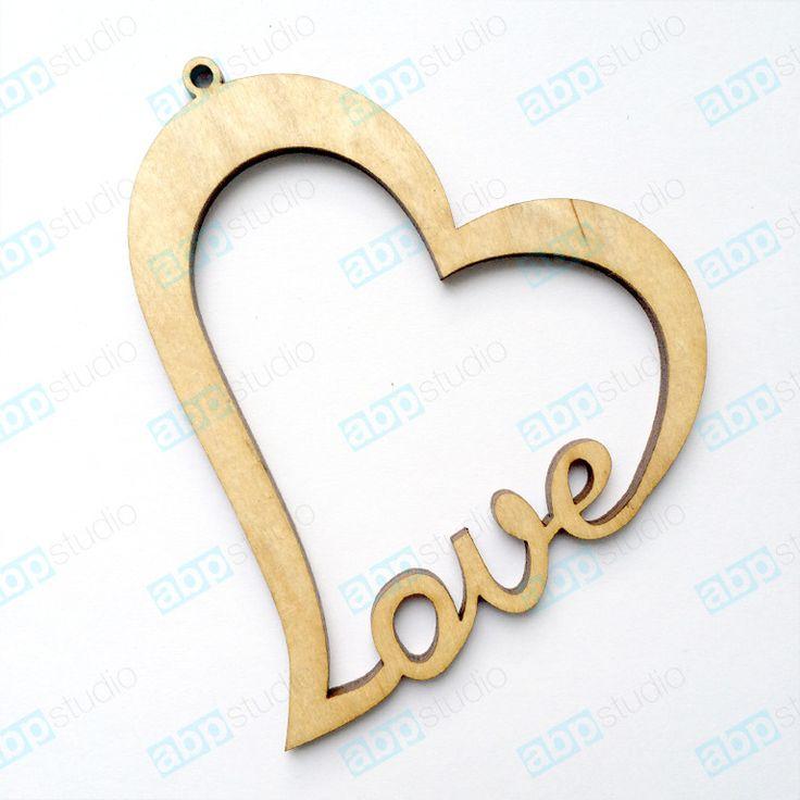 подвеска сердце из дерева - Пошук Google
