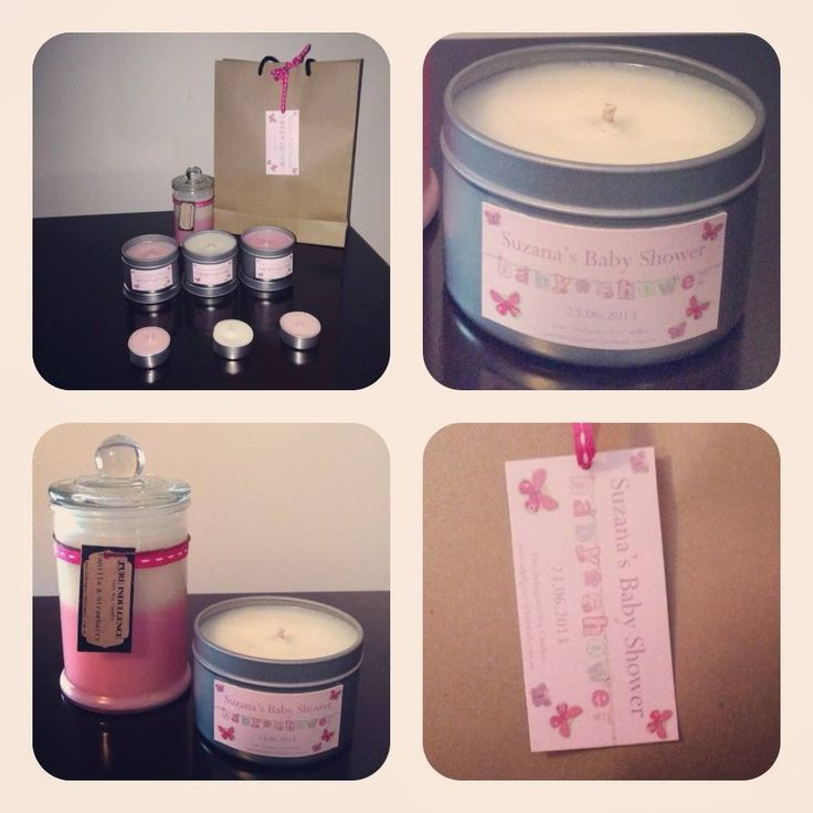 Baby Shower Soy Candle Keep sakes by Dita! Custom designed & Hand Poured