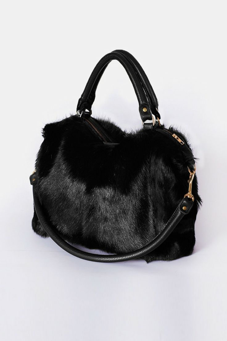 Deadly Ponies Fill N Zip bag in black fur. Possibly the perfect winter bag.