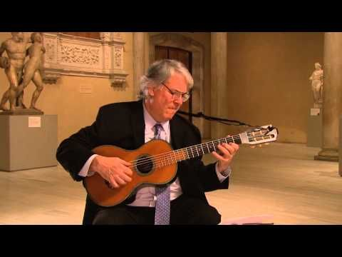 In this video, shot at NY's Metropolitan Museum of Art, Starobin plays the Rondo in D Major Op. 11 by Francesco Milano (1775–1847) on an 1835 René Lacôte guitar which boasts a label signed by Fernando Sor and was once owned by Julian Bream. Now it's in the Met's collection.