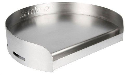 Little Griddle Kettle - Q® Stainless Steel Round Griddle For Kamado And Charcoal Grills - Stainless Steel