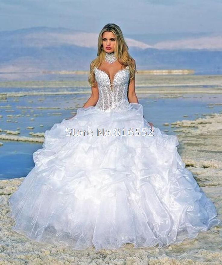 Stunning Cheap bridal gown Buy Quality crystal bridal gowns directly from China gown wedding Suppliers Juliana New Organza Spaghetti Straps Sexy V neckline Ball