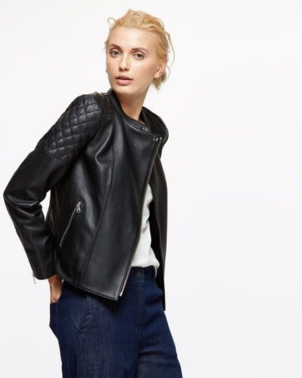 This jacket is crafted from 100% Napa Leather for a beautifully soft finish. The slim fit balances the biker features, including quilted detailing and gun metal fastenings for a contemporary touch. Further details include full lining, a round collar and zips on the sleeves to allow extra room. This investment piece will age beautifully over time.