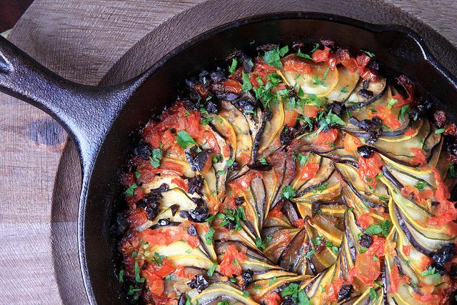 Ratatouille (Confit Byaldi) by Jeff and Erin's pics, via Flickr  Would make an awesome side w/ roast chicken