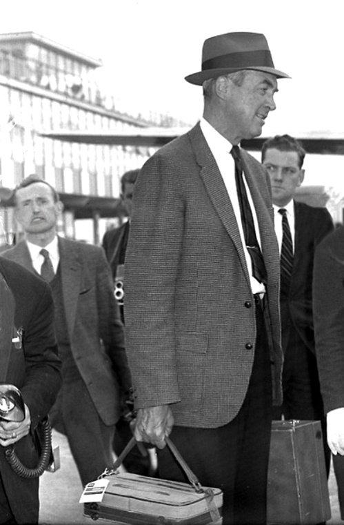 Actor Jimmy Stewart at Dublin Airport, July 1962