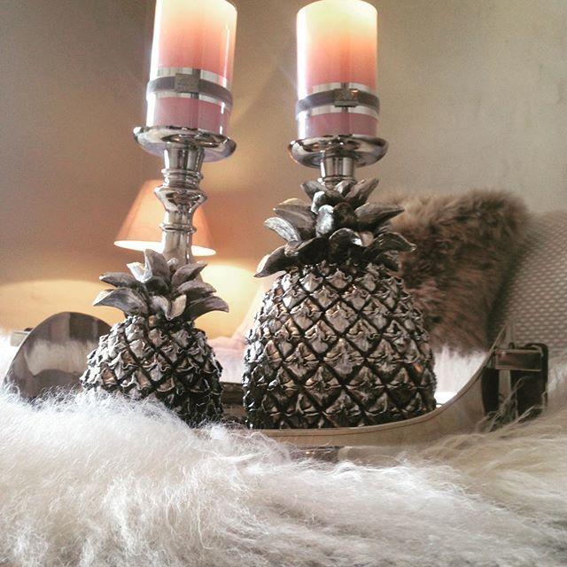 Pineapple, lys og lysestaker fra VillaB