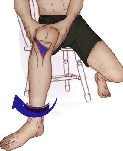Как снять боль в подколенной мышце