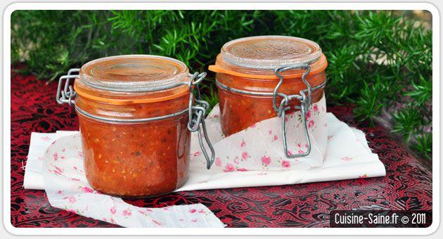 Conserve de sauce tomate aux herbes sur Cuisine saine