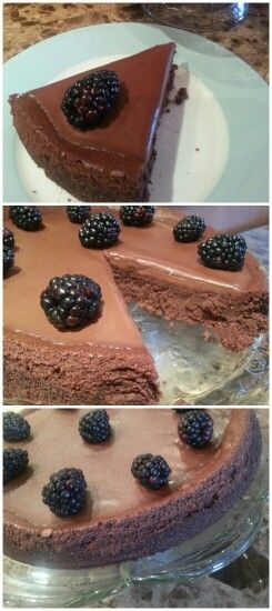 Deep Dark Chocolate Cheesecake adapted from epicurious ....yummy