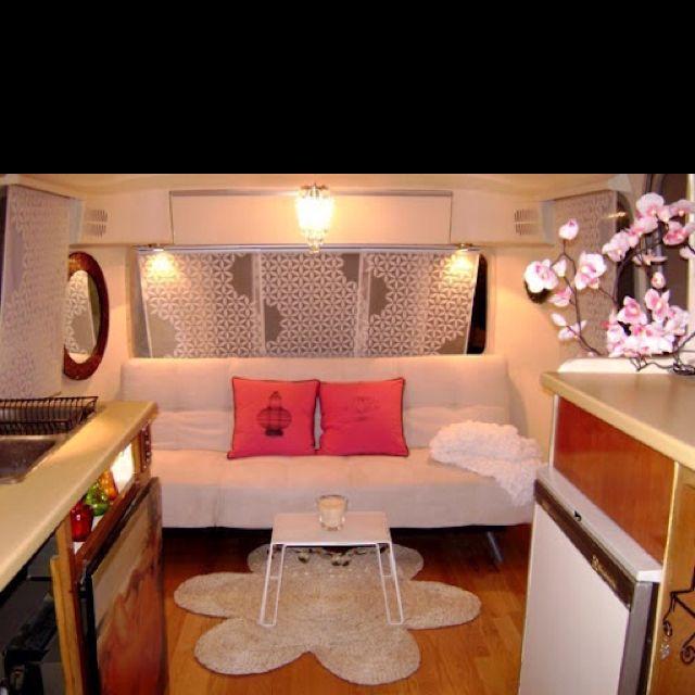 vintage rv trailer motorhome camper decor update redo interior