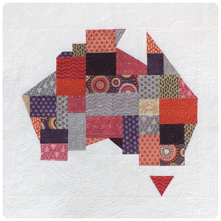 Paper pieced Australia by She Quilts A Lot