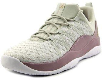 Jordan Deca Fly Premium Youth Round Toe Leather White Basketball Shoe.