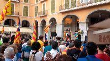 El alcalde de Palma estuvo en la concentración independentista