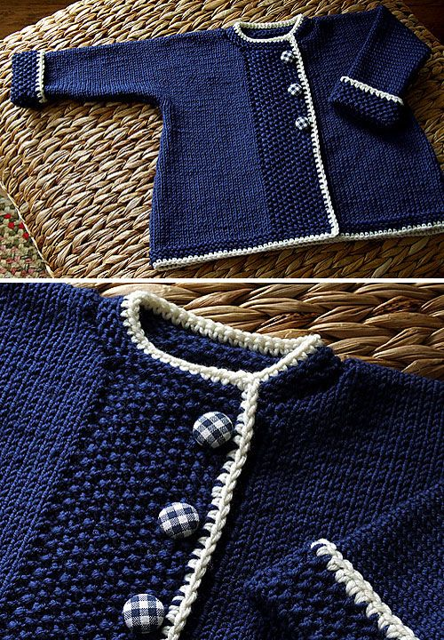 We Like Knitting: Sweet Navy Sweater - Free Pattern