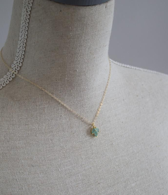 Laurel Aqua Chalcedony Gold Necklace *As Seen On Riverdale and Pascale Hutton*