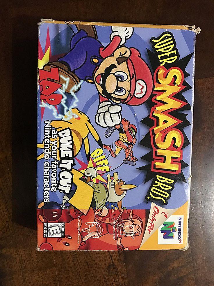 Super Smash Bros - Nintendo 64   Four-player action fighter, starring 12 Nintendo mascots, including Mario, Luigi, Fox, Link, Read  more http://themarketplacespot.com/super-smash-bros-nintendo-64/