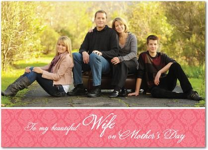 Elegant  Pattern - Mother's Day Greeting Cards - Magnolia Press - Medium Pink - Pink : FrontGreeting Card