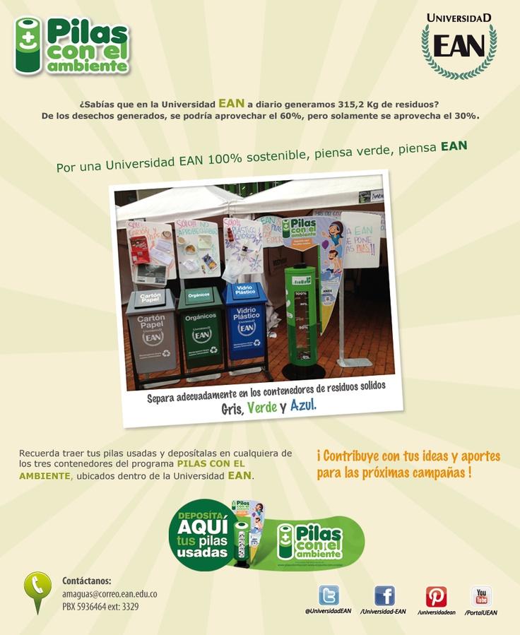 #PILAS con el Ambiente. Comunidad EANista comprometida y verde.