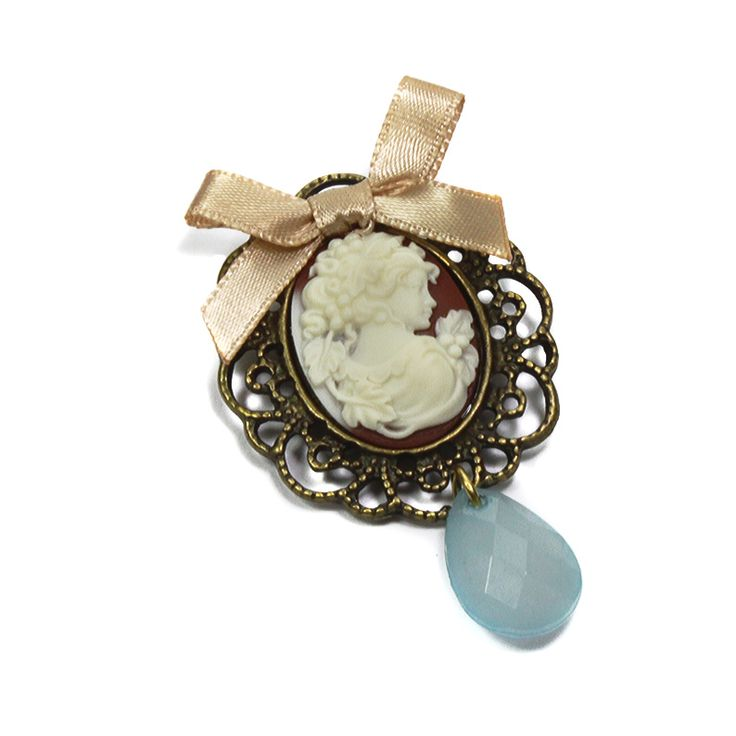 Pretty-Lady-vintage-insired-handmade-brooch.jpg (794×794)