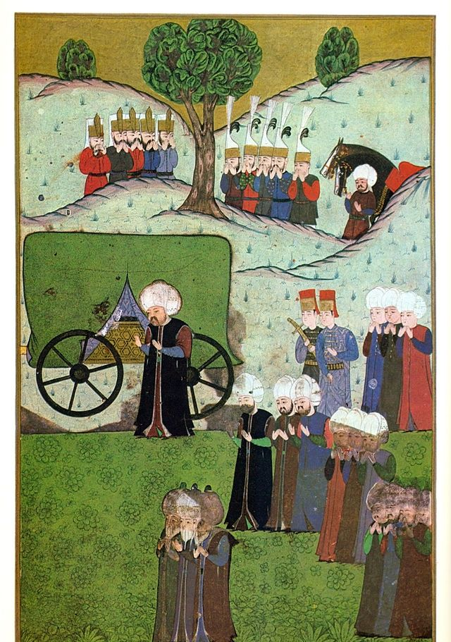 The body of Suleiman I arrives to Belgrade, Selim II is waiting for it