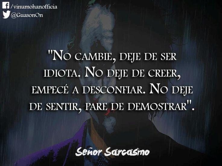 (1) Señor Sarcasmo