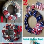The Scrap Shoppe: Burlap & Denim Ruffled Patriotic Wreath: Wreaths Idea, Fourth Of July, July Wreaths, July Roundup, 27 Patriots, Patriots Wreaths, 4Th Of July, July 4Th, Patriots Projects