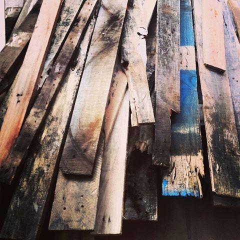 wooden paletts broken down