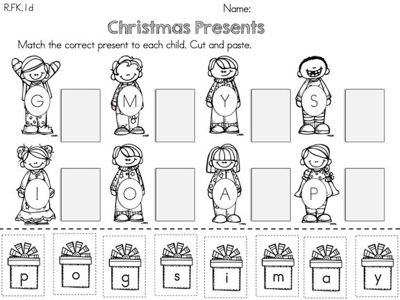 christmas kindergarten literacy worksheets common core aligned word work literacy. Black Bedroom Furniture Sets. Home Design Ideas