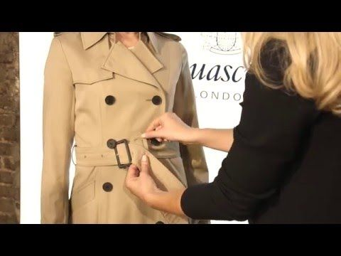 Aquascutum How To: 3 Ways to Tie a Trench Belt - YouTube