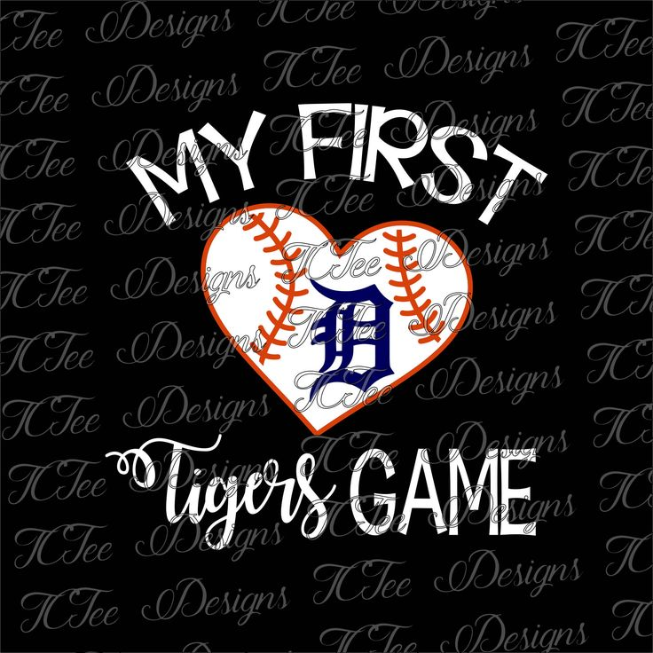 My First Tigers Game - Detroit Tigers Baseball - SVG Design Download - Vector Cut File by TCTeeDesigns on Etsy