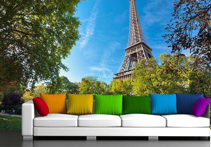 Paryż w salonie http://decoart24.pl/_blog/44-Fototapety_.html  #DecoArt24 #dekoracje #fototapeta #inspiracje #wnętrze #salon