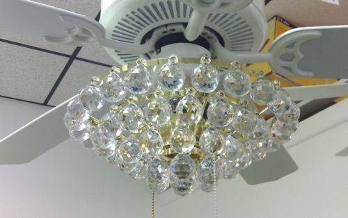 acrylic crystal chandelier type ceiling fan light kit. Black Bedroom Furniture Sets. Home Design Ideas