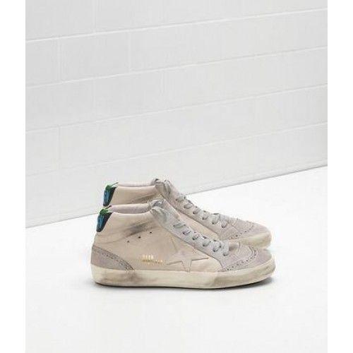 2017 Golden Goose Mid Star Chaussures GGDB Femme Sneaker Cuir Gris